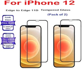 iPhone 12 Edge to Edge,Full Glue 11D Tempered Glass (Pack of 2)