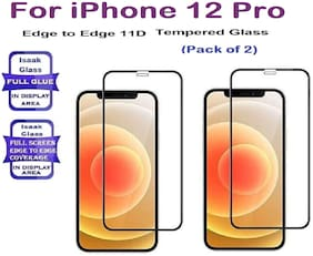 iPhone 12 Pro Edge to Edge,Full Glue 11D Tempered Glass (Pack of 2)