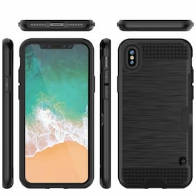 iPhone X Case, PUNKcase [SLOT Series] Slim Fit Dual-Layer Armor Cover