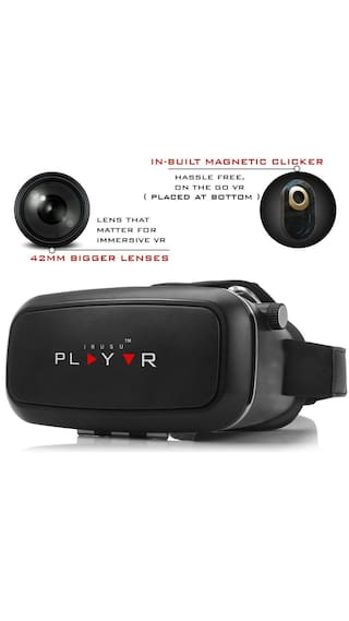 Irusu play  vr box virtual reality headset with free magnetic clicker