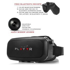 Irusu Play VR headset With Upgraded 42mm Fully Adjustable Virtual Reality Lenses and free remote control.