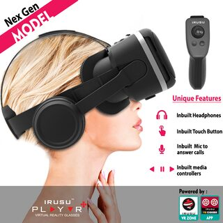 irusu play vr plus vr box headset with remote controll for mobiles