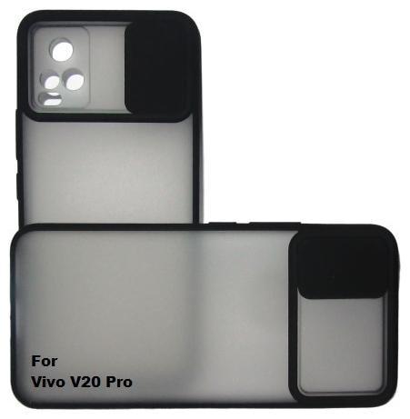ISAAK Plastic Back Cover For Vivo V20 Pro ( Black )