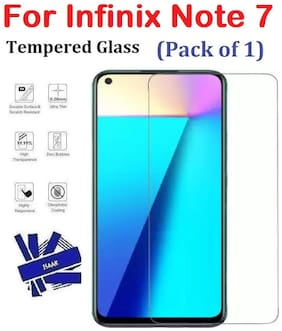ISAAK Infinix Note 7 Full Coverage Tempered Glass (Pack of 1)