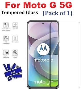 ISAAK Moto G 5G Full Coverage Tempered Glass (Pack of 1)