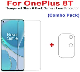 ISAAK OnePlus 8T Tempered Glass & Back Camera Lens Protector (COMBO PACK)