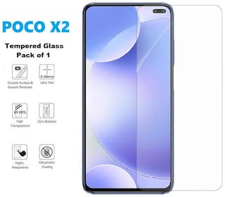 ISAAK Poco X2 Tempered Glass (Pack of 1)