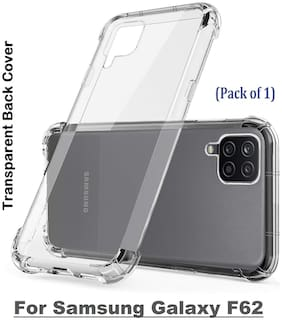 Isaak Samsung Galaxy F62 Transparent Back Cover (Pack of 1)