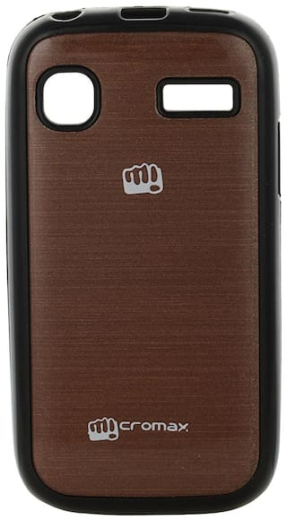 best website 1d64c 0909e Iway Colorfull Shiney Soft Black Border Cover For Micromax Bolt A35 - Coffee