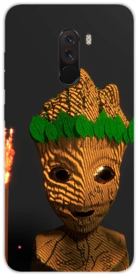 Jaz Deals Designer Groot Print Hard Mobile Back MI Poco F1 Cover