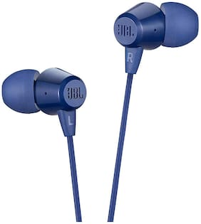 JBL C50HI In-Ear Wired Headphone ( Blue )