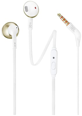 JBL T205CGD In-Ear Wired Headphone ( Gold )