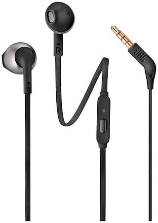 JBL T205BLK In-Ear Wired Headphone ( Black )