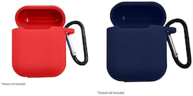 JMO27Deals Silicone Shock Proof Protection Sleeve Skin Carrying Box with Hook for Airpods (Airpod Not Include)(Set of 2)