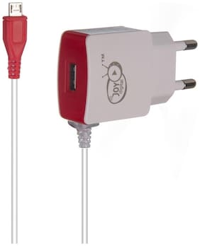 JOY Digital Micro USB / Universal charger with additional USB port with LED Power Supply Indication -JOY-CH-001-RED
