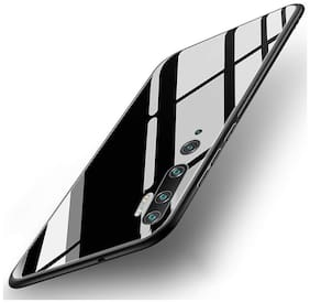 Mi Note 10 Glass Back Cover By Kam ( Black )