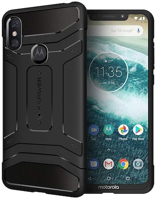 premium selection af3dc 84467 Kapaver Back Cover For Moto One Power (Black)