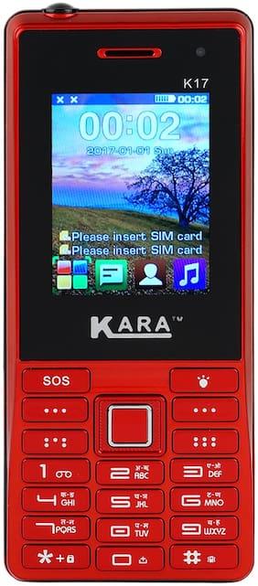 "Kara K17, 2.4"" Display with vibration Dual Sim features phone  (Red)"
