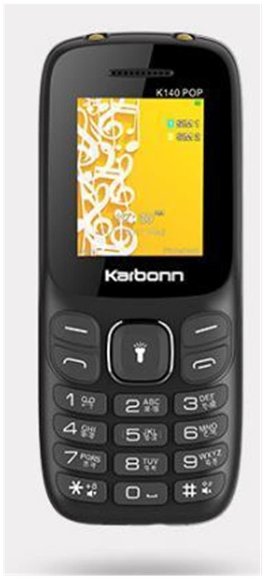 Karbonn K140 With Wireless FM (Black-Red)