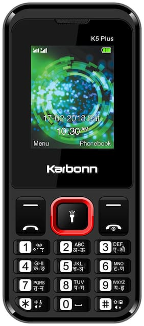Karbonn K5 Plus (Black & Red)