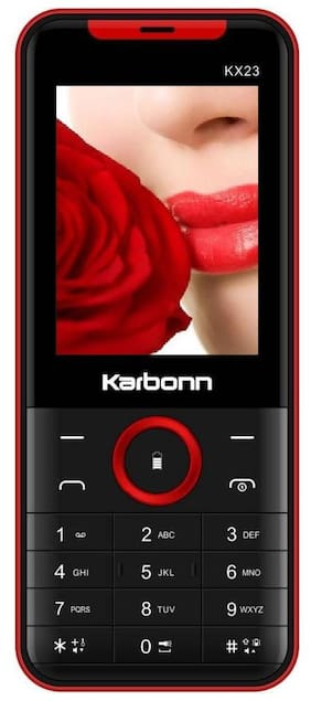 Karbonn KX23 Dual Sim  (Black, Red)