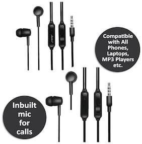 Kboom KBHF (Pack of 2) In-Ear Wired Headphone ( Assorted )