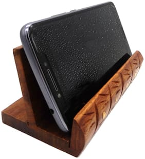 KESHA SPREE Wood Table Stand Mobile Holder