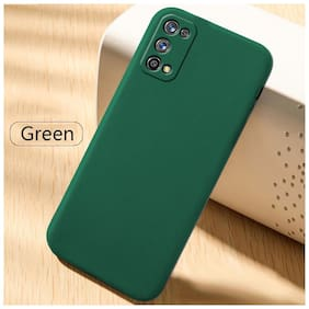 Realme 7 Pro Silicone Back Cover By Sabairya ( Green )