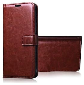 Oppo Reno 4 Pro Faux Leather Flip Cover By KHR ( Brown )