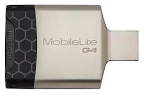 Kingston MobileLite G4 USB 3.0 Card Reader  (Silver & Black)