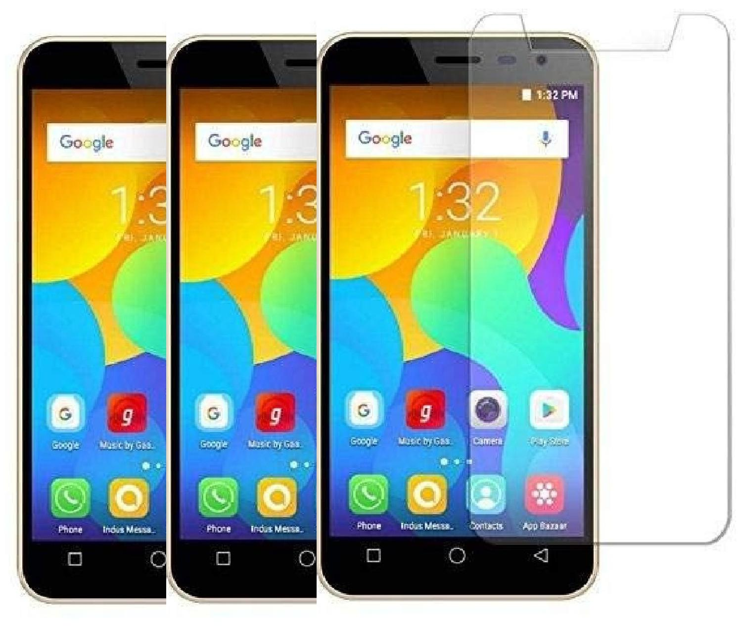 kite digital Tempered Glass For MICROMAX BHARAT 5  Pack of 3