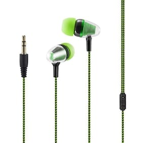 KONARRK Disco In-Ear Wired Headphone ( Green & Black )