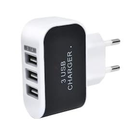 Lambent 3 Ports USB Wall Charger for All Smartphone