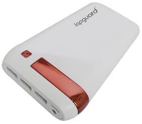 Lapguard 20800 mAh Power Bank - White & Red