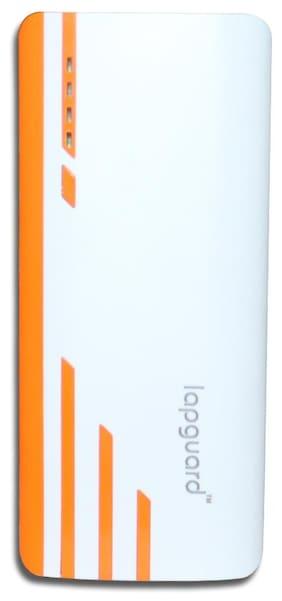Lapguard Sailing-1530_10.4K 10400mAH Lithium-ion Power Bank (White-Orange)