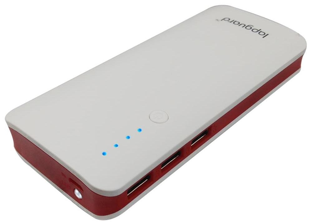 Lapguard Sailing 1510_10.4K 10400mAH Lithium ion Power Bank  White Red