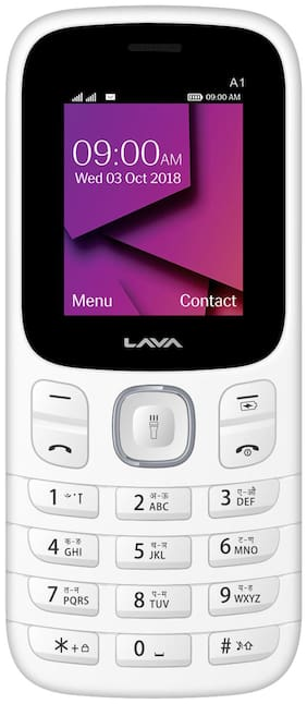 Lava A1 Dual Sim Feature Phone (White)