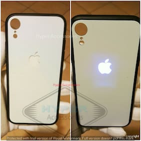 LEKE Apple iPhone XR World s First LED Light Illuminated Logo Design Matte White