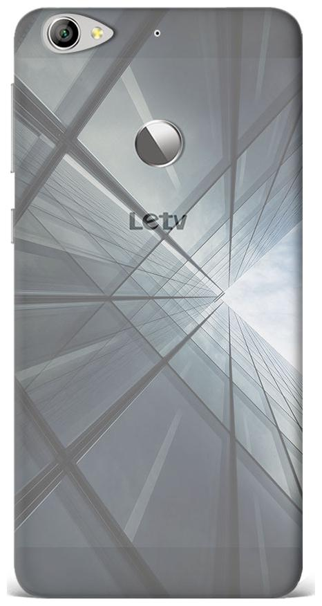 LeTV Le 1S [Transparent Plastic Cover] Printed Design   Abstract Skyscrapers Overlook Case by Qrioh Retail