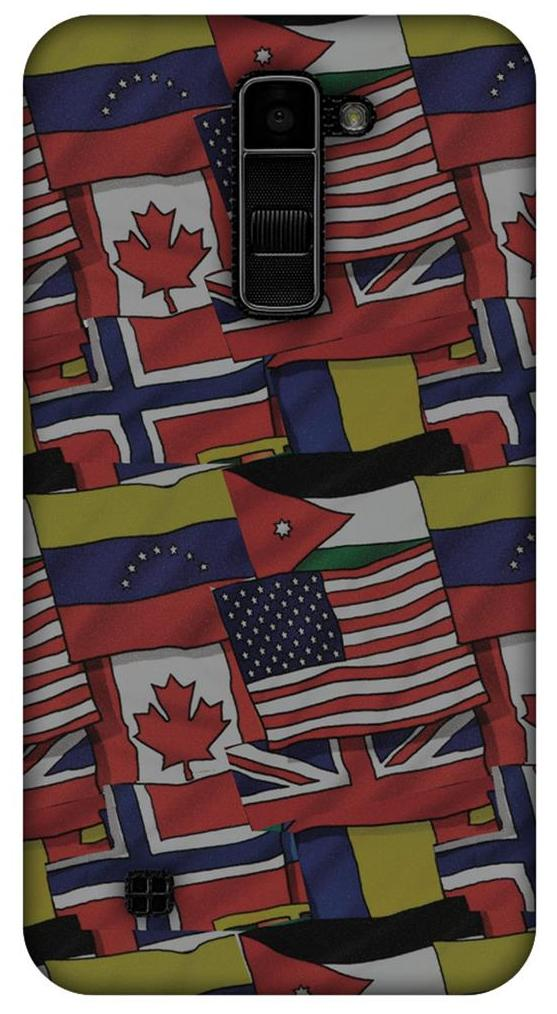 low priced 0fe04 8e9f0 LG K10 K420DS, LG K10 Designer Case Printed Protective Back Cover Flags  United for LG K10 K420DS, LG K10