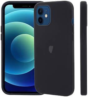 Apple iPhone 12 Mini Silicone Back Cover By LIRAMARK ( Black )