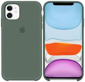 LIRAMARK Silicone Back Cover For Apple iPhone 11 ( Green )