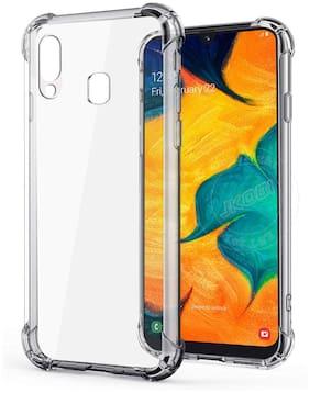 LIRAMARK Plastic Back Cover For Samsung Galaxy A40 ( Transparent )