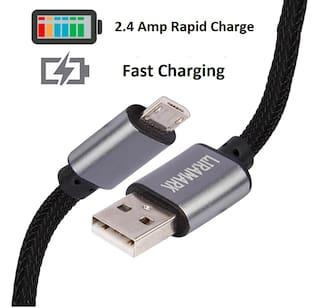 LIRAMARK Data & Charging Micro USB Cable ( 1 m , Black )