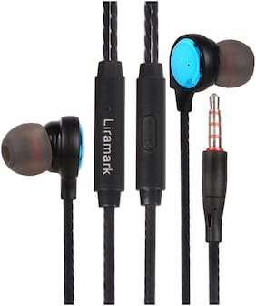 LIRAMARK Earphones In-Ear Wired Headphone ( Blue )