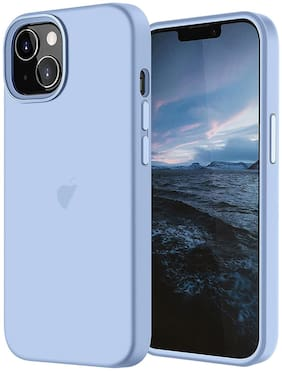 LIRAMARK Liquid Silicone Soft Back Cover Case for Apple iPhone 13 (6.1 Inch) (Sky Blue)