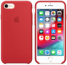 LIRAMARK Silicone Back Cover For Apple iPhone 7 ( Red )
