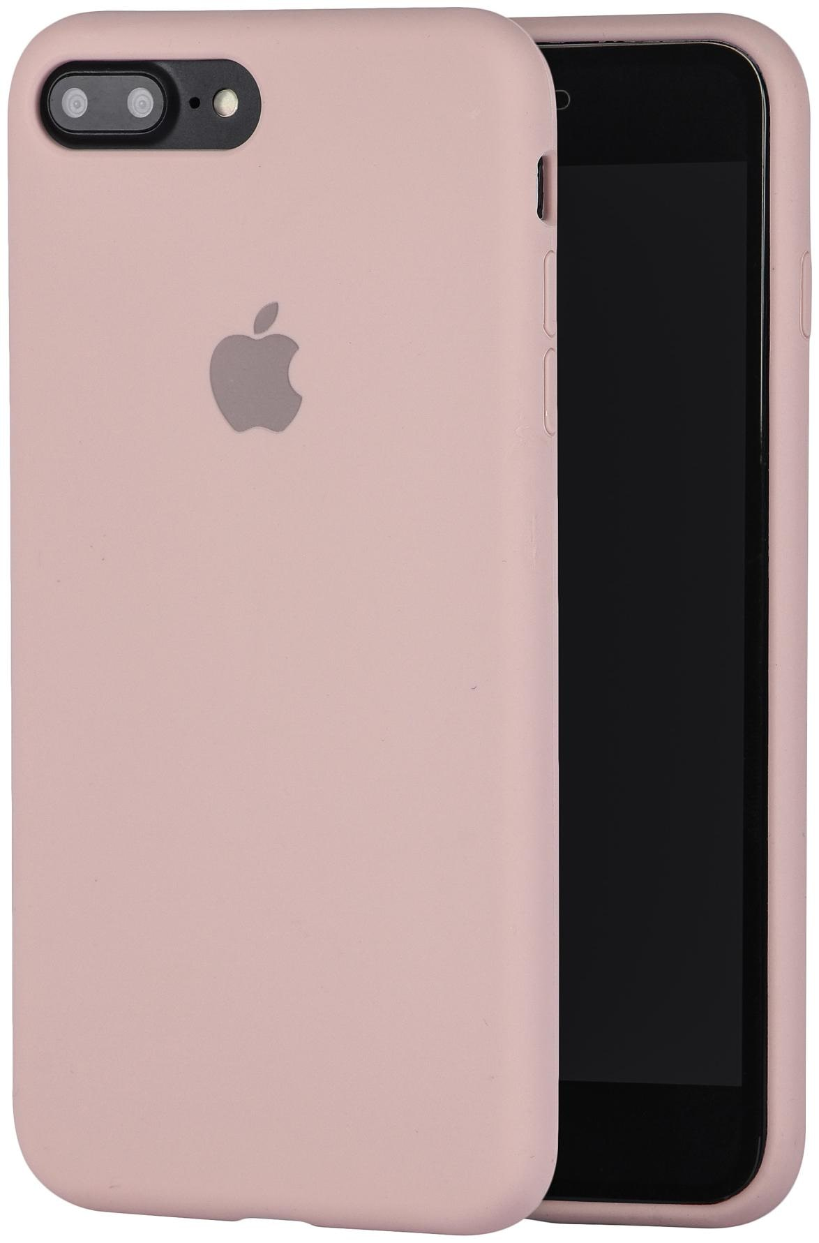 LIRAMARK Silicone Back Cover For Apple iPhone 7 Plus   Apple iPhone 8 Plus   Pink   by B S Enterprises