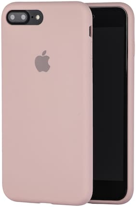 Apple iPhone 7 Plus & Apple iPhone 8 Plus Silicone Back Cover By LIRAMARK ( Pink )