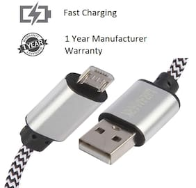 LIRAMARK Data & Charging Micro USB Cable ( 1 mtr , Silver )